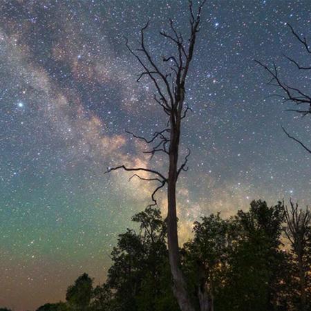 各种星空夜景延时全景作品大全